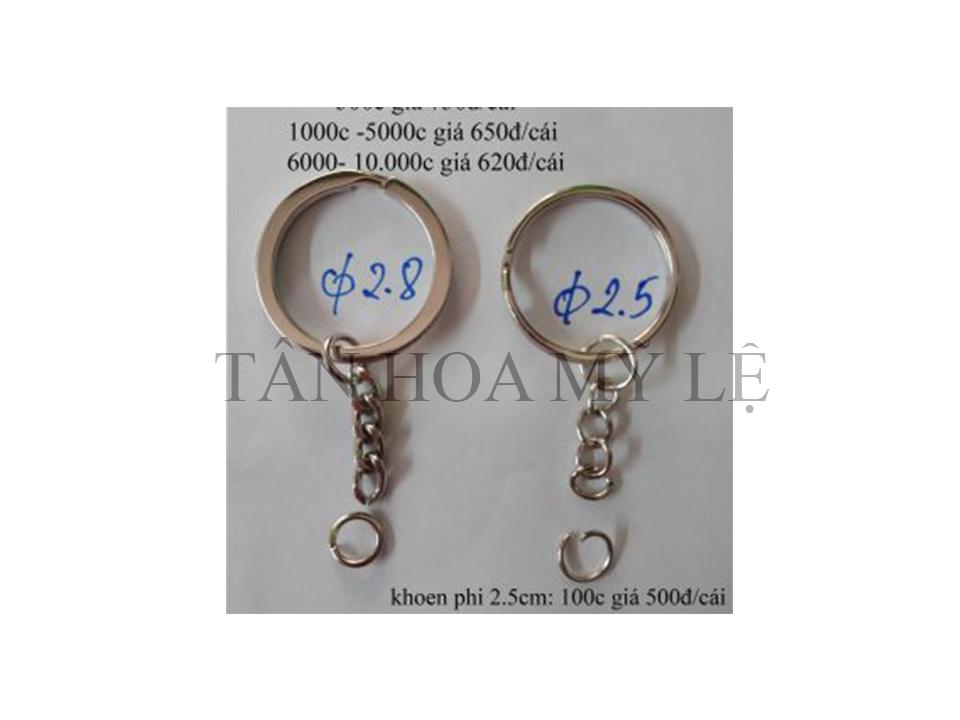 Khoen khóa dập hoa văn 2.5 & 2.8 cm