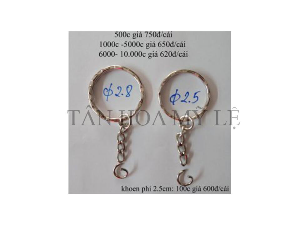 Khoen khóa dẹp 2.5 & 2.8 cm
